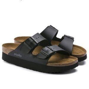 BIRKENSTOCK PAPILLIO Black Platform Sandals